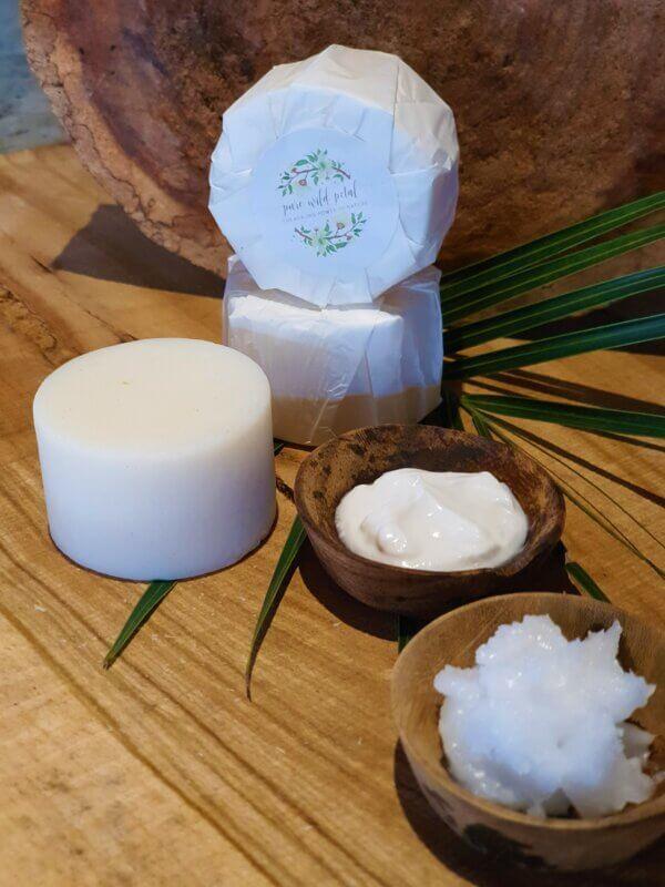 moisturizing coconut and cream soap