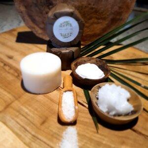 exfoliating coconut and cream soap